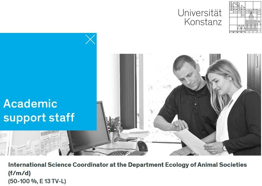 <h1>International Science Coordinator Position at the Department Ecology of Animal Societies</h1>
